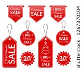 christmas sale tag  label ... | Shutterstock . vector #1267370104
