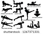 dynamic clap push ups. donkey... | Shutterstock .eps vector #1267371331