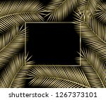 gold tropical card for your... | Shutterstock . vector #1267373101
