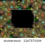 holiday background. gold... | Shutterstock . vector #1267373104