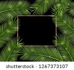 ttropical card for your design. | Shutterstock . vector #1267373107