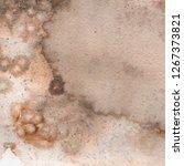 orange watercolor and ink paper ...   Shutterstock . vector #1267373821
