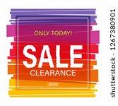 sale banner design template. | Shutterstock .eps vector #1267380901