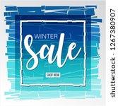 winter sale banner design... | Shutterstock .eps vector #1267380907