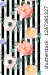 floral fashion pattern | Shutterstock . vector #1267381327