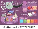 cute info graphic of fine... | Shutterstock .eps vector #1267422397