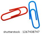 colorful paper clip isolated on ...   Shutterstock . vector #1267438747