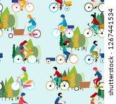 print bicycle vector design | Shutterstock .eps vector #1267441534
