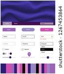 dark purple  pink vector ui kit ...