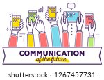 communication concept on white... | Shutterstock .eps vector #1267457731