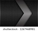 abstract big grey arrow... | Shutterstock .eps vector #1267468981
