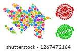 social network map of... | Shutterstock .eps vector #1267472164
