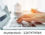 closeup image of hands working... | Shutterstock . vector #1267474564