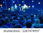 audience listens to the... | Shutterstock . vector #1267474957