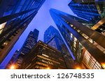 looking up at chicago's... | Shutterstock . vector #126748535