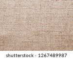 texture of natural linen fabric | Shutterstock . vector #1267489987