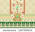 colorful floral shirt front and ... | Shutterstock . vector #1267505614