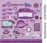 valentines website elements | Shutterstock .eps vector #126750581
