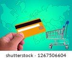 hands holding credit card  ... | Shutterstock . vector #1267506604