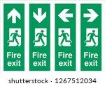 emergency escape sign symbols... | Shutterstock .eps vector #1267512034