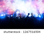 new year concept   fireworks... | Shutterstock . vector #1267516504