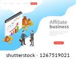 flat isometric landing page... | Shutterstock . vector #1267519021
