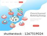 isometric flat  landing page... | Shutterstock . vector #1267519024