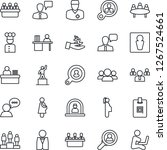 thin line icon set   male... | Shutterstock .eps vector #1267524661