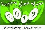happy new year 2019 greetings | Shutterstock . vector #1267524907