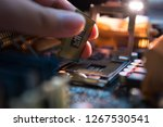 Installation cpu on socket of...