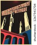 constructivism architecture... | Shutterstock .eps vector #1267541704