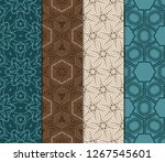 set of 4 geometric pattern ... | Shutterstock .eps vector #1267545601