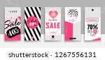 set of valentine's day... | Shutterstock .eps vector #1267556131