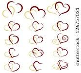 Set Of Symbols Double Heart ...