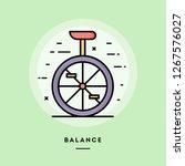 balance  monocycle  flat design ... | Shutterstock .eps vector #1267576027