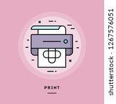 print  flat design thin line... | Shutterstock .eps vector #1267576051
