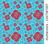 muladhara chakra seamless... | Shutterstock .eps vector #1267587007