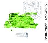 green brush stroke and texture. ... | Shutterstock .eps vector #1267601377