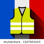 yellow vests  as a symbol of... | Shutterstock .eps vector #1267601614