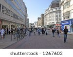 shoppers in liverpool england | Shutterstock . vector #1267602