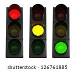 3d Render Of Traffic Lights...