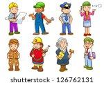 occupation set. vector... | Shutterstock .eps vector #126762131
