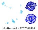 freeze map of cape verde... | Shutterstock .eps vector #1267644394