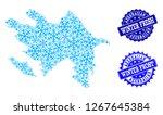 frozen map of azerbaijan and... | Shutterstock .eps vector #1267645384