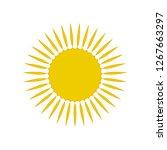 sun symbol icon on white  stock ... | Shutterstock .eps vector #1267663297
