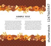 vector decorative cover with... | Shutterstock .eps vector #1267665547
