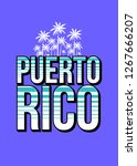 puerto rico paradise palm tree... | Shutterstock .eps vector #1267666207