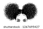 curly beauty girl illustration... | Shutterstock .eps vector #1267695427