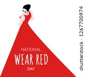 national wear red day   text... | Shutterstock .eps vector #1267700974