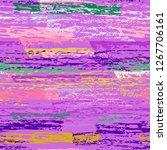 grunge stripes line. chalk...   Shutterstock .eps vector #1267706161